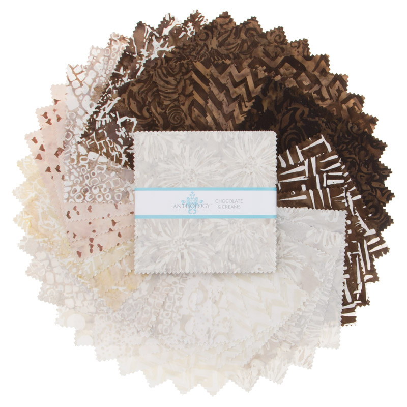 Chocolate and Creams Batiks Charm Pack
