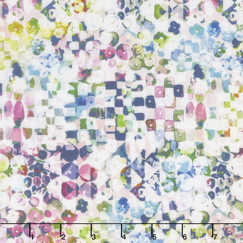 Fleur Couture - Sequins Crystal Digitally Printed Yardage