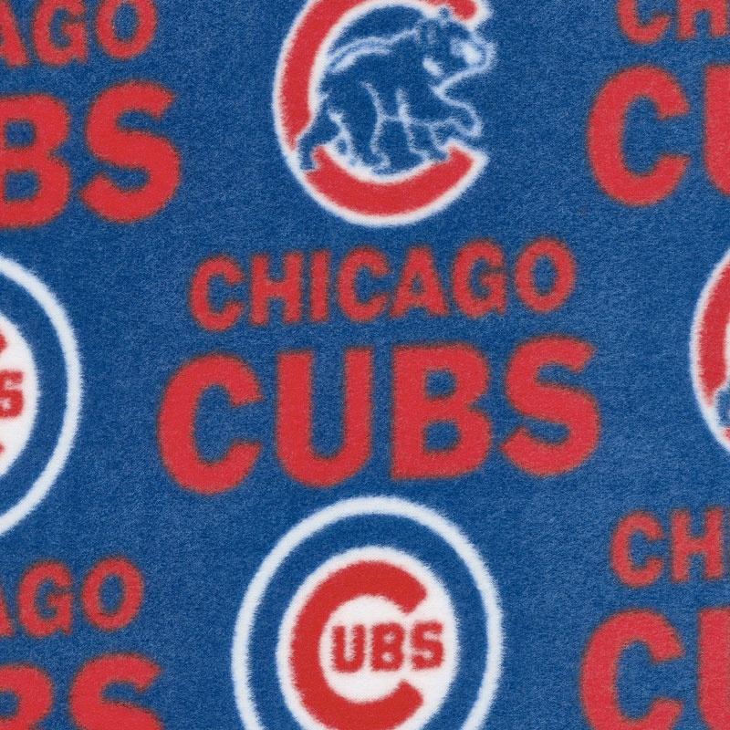 MLB Fleece - Chicago Cubs Blue/Red Yardage