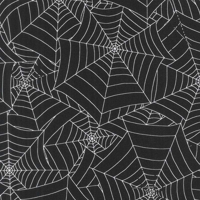 Costume Maker's Ball - Webs Black Yardage