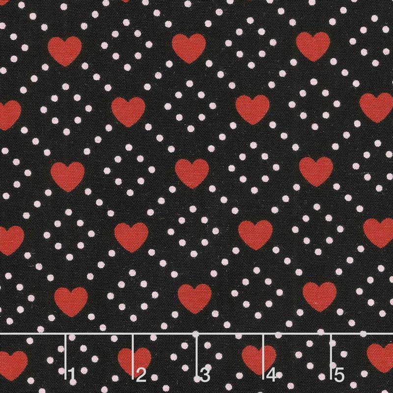 Hello Sweetheart - Diamond Black Yardage