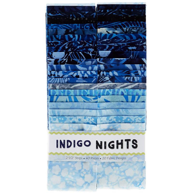 Indigo Nights Batiks Strips