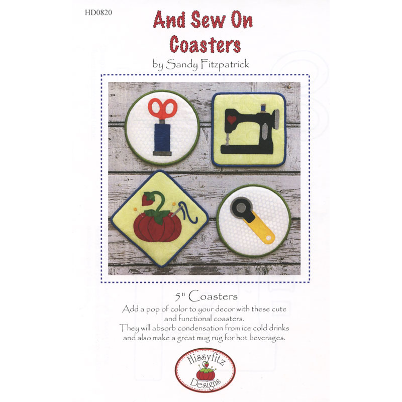 And Sew On Coasters Pattern