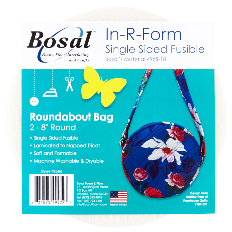 Bosal Roundabout Bag In R Form Single Sided Fusible
