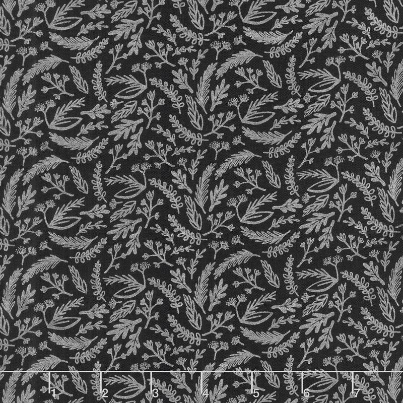 Juniper - Sprigs Gray Metallic Yardage