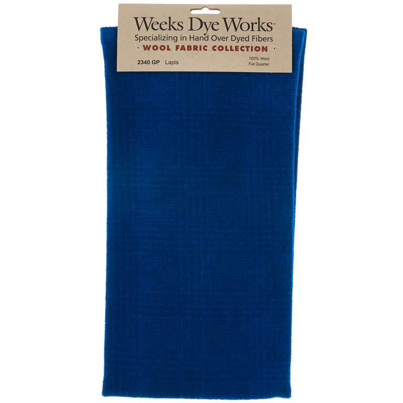 Weeks Dye Works Hand Over Dyed Wool Fat Quarter - Glen Plaid Lapis