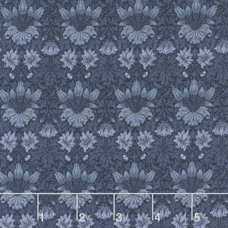 May Morris Studio - Tulip 1900 Indigo Yardage