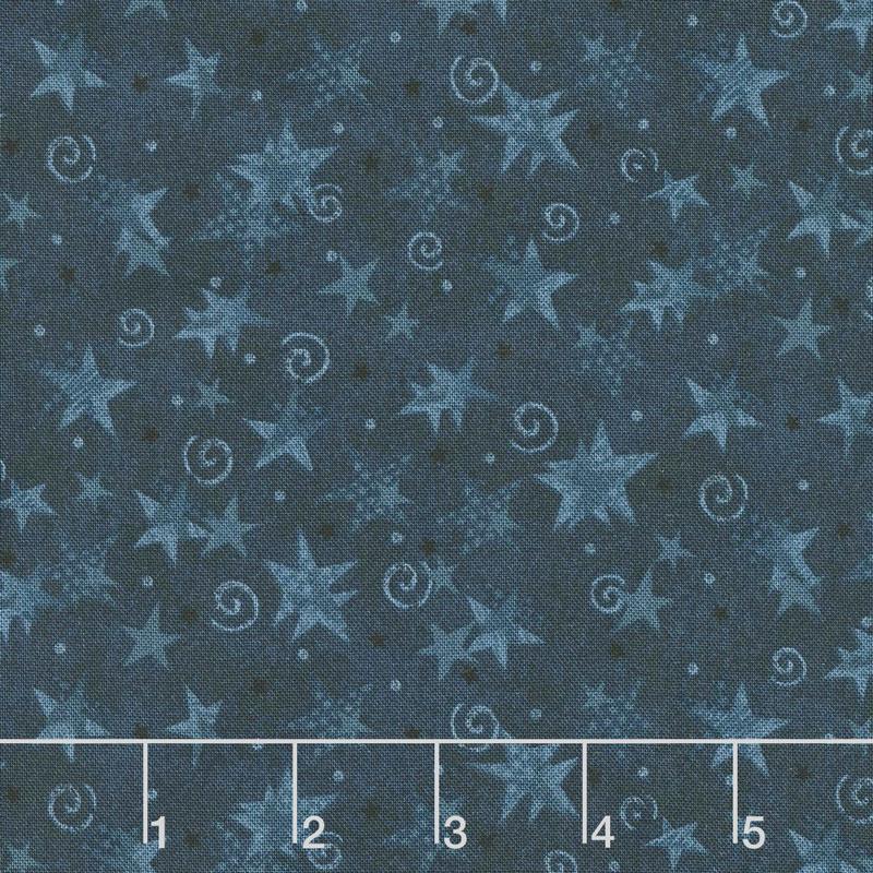 Itty Bitty - Stars Blue Yardage