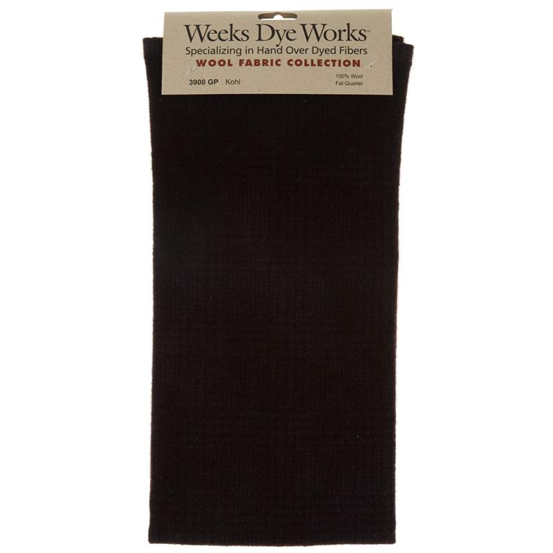 Weeks Dye Works Hand Over Dyed Wool Fat Quarter - Glen Plaid Kohl
