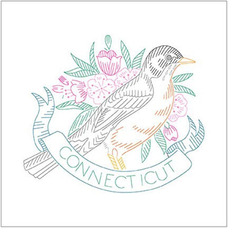 Birds of Liberty - Connecticut Digitally Printed Panel