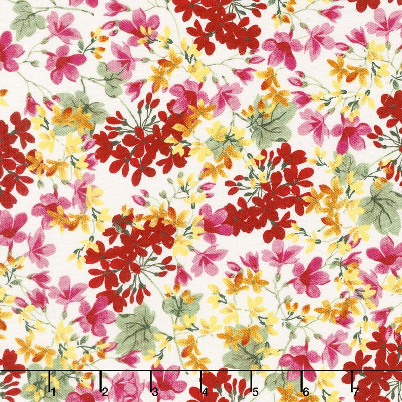 Farmhouse Floral - Floral Cream Yardage