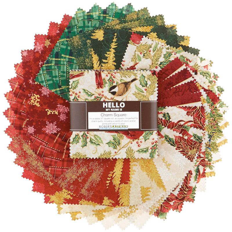 Winter's Grandeur 8 Holiday Metallic Charm Pack