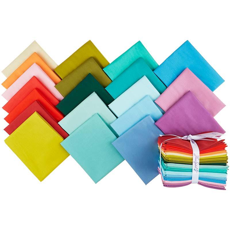 Designer Essentials Solids Rainbow Fat Quarter Bundle