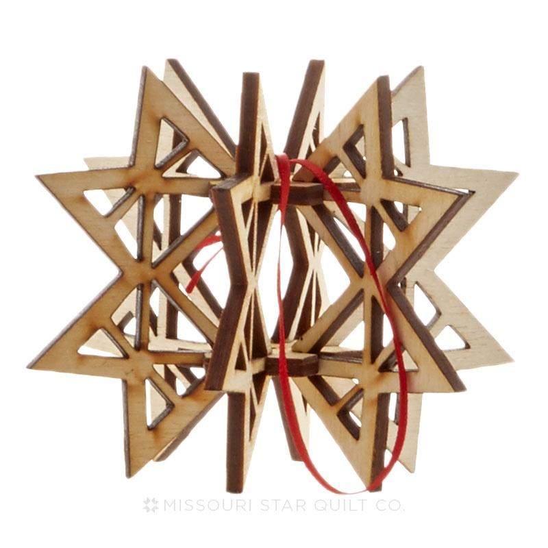 3D Missouri Star Ornament