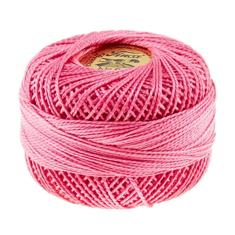 Presencia Perle Cotton Thread Size 8 Cyclamen Pink