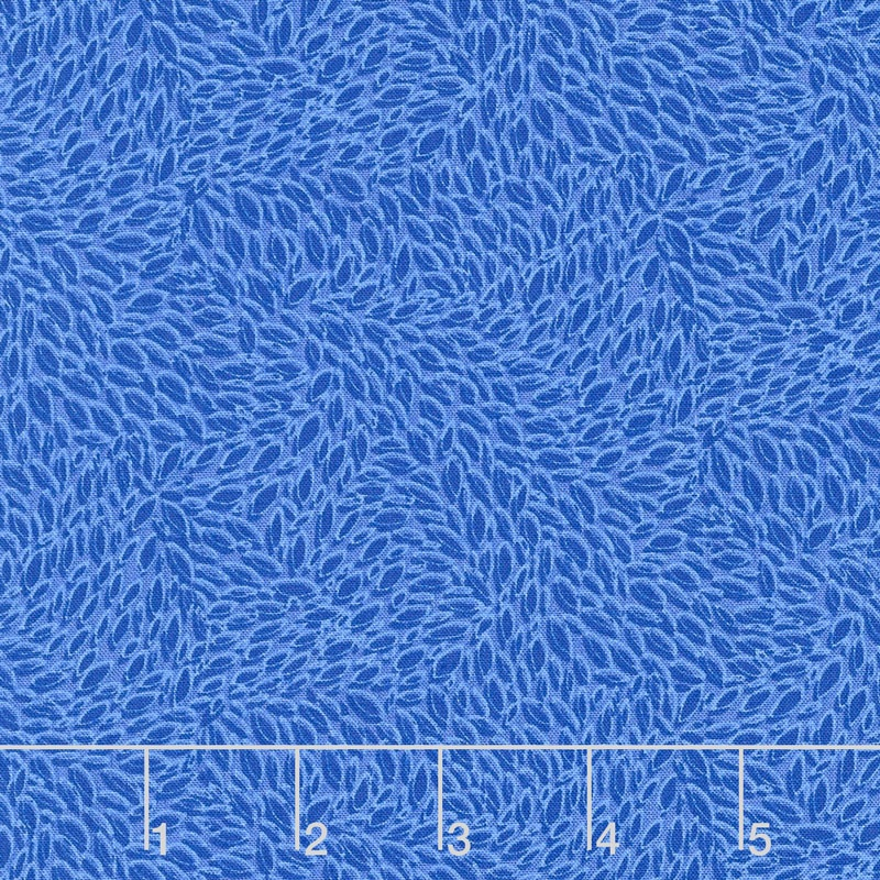 Hopscotch - Leaves in Motion Sapphire Yardage