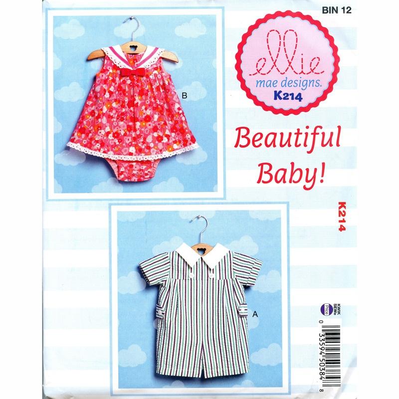 Babies' Romper, Sailor Dress and Panties Pattern