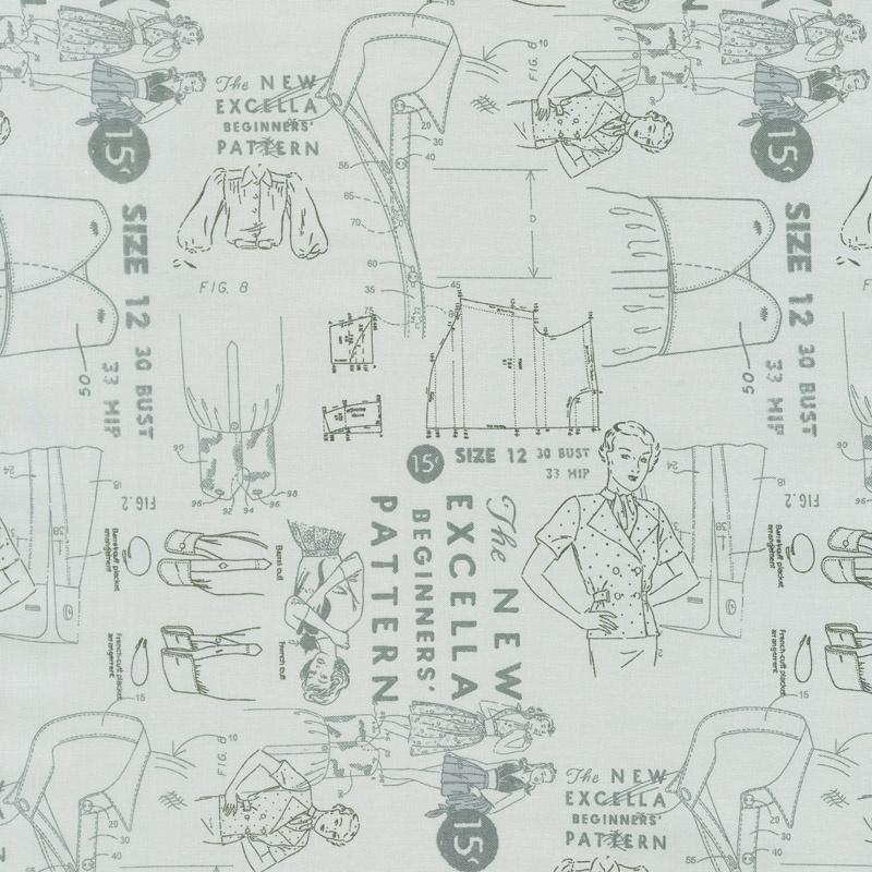 Modern Backgrounds More Paper - Cloth Pattern Zen Grey Yardage