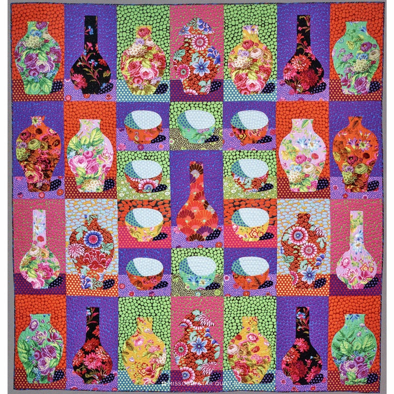 The Kaffe Fassett Collective Bowls And Vases Quilt Kit