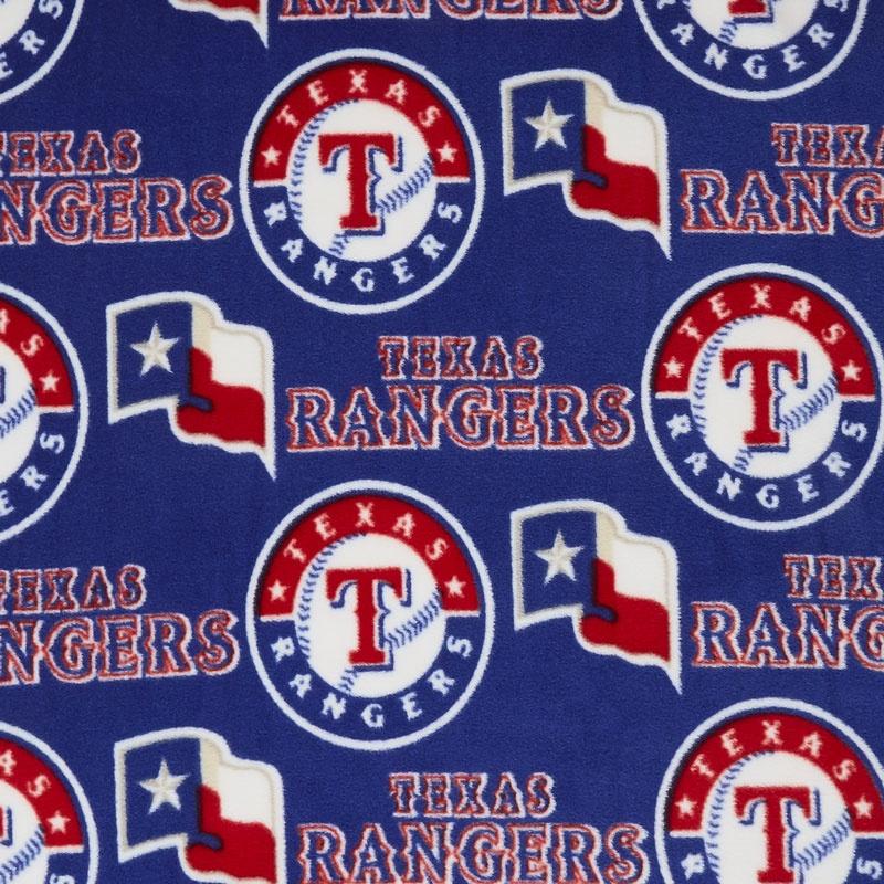 MLB Fleece - Texas Rangers Blue Yardage