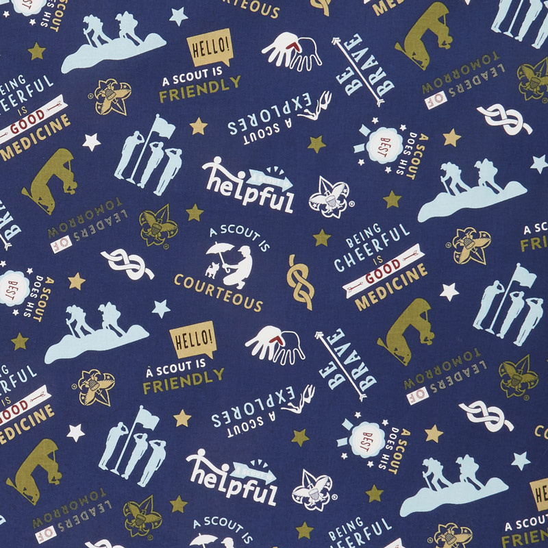 A Scout Is - Boy Scouts Navy Yardage