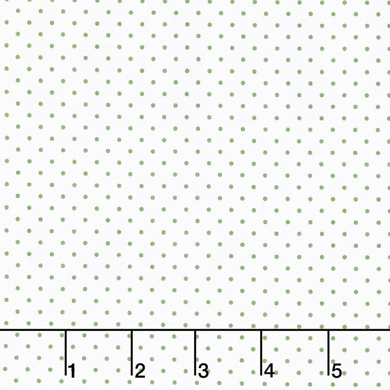 Swiss Dot - Swiss Dot Clover on White Yardage