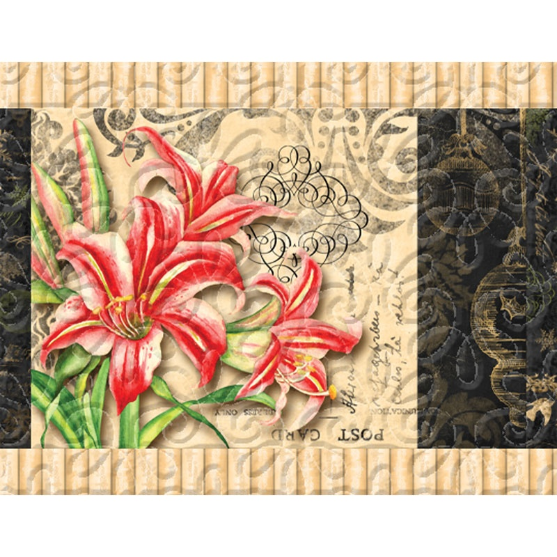 Christmas in Bloom Placemats Kit