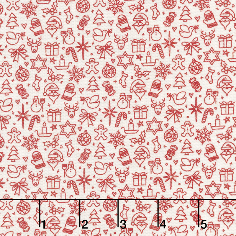 Kringle and Claus - Traditions Snow Berry Yardage