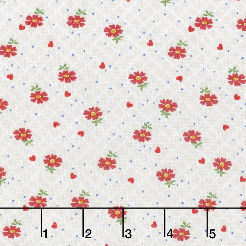 Sugar Sack - Floral Check Pearl Grey Yardage