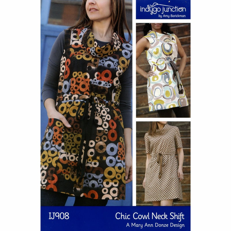 Chic Cowl Neck Shift Tunic and Dress Pattern