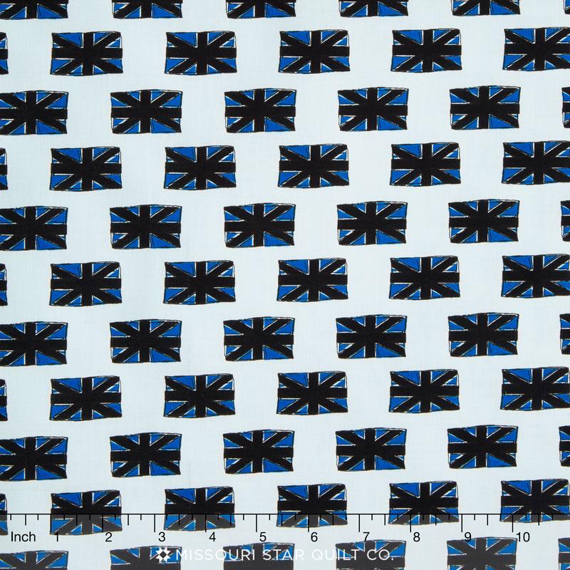 British Invasion - Flag Blue Yardage