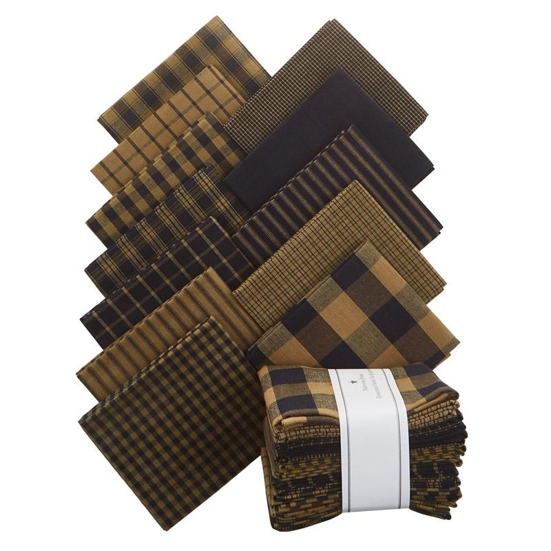Navy Homespun Fabric Fat Quarter Bundle