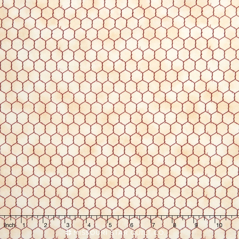 Down on the Farm - Chicken Wire Tan Yardage | Blank Quilting | Blank