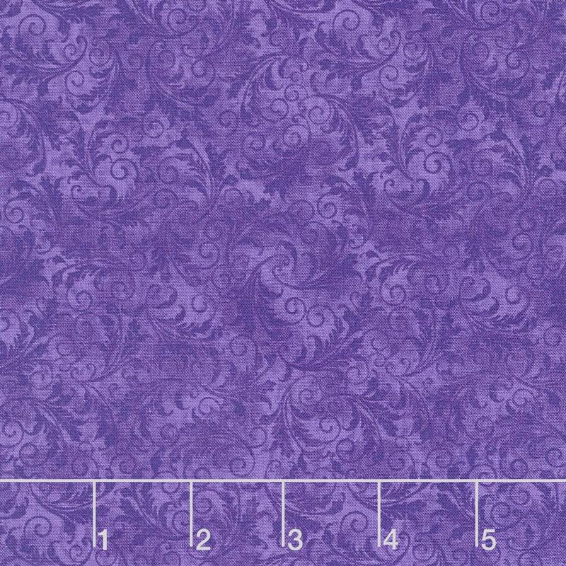 Echo - Tonal Filigree Grape Yardage
