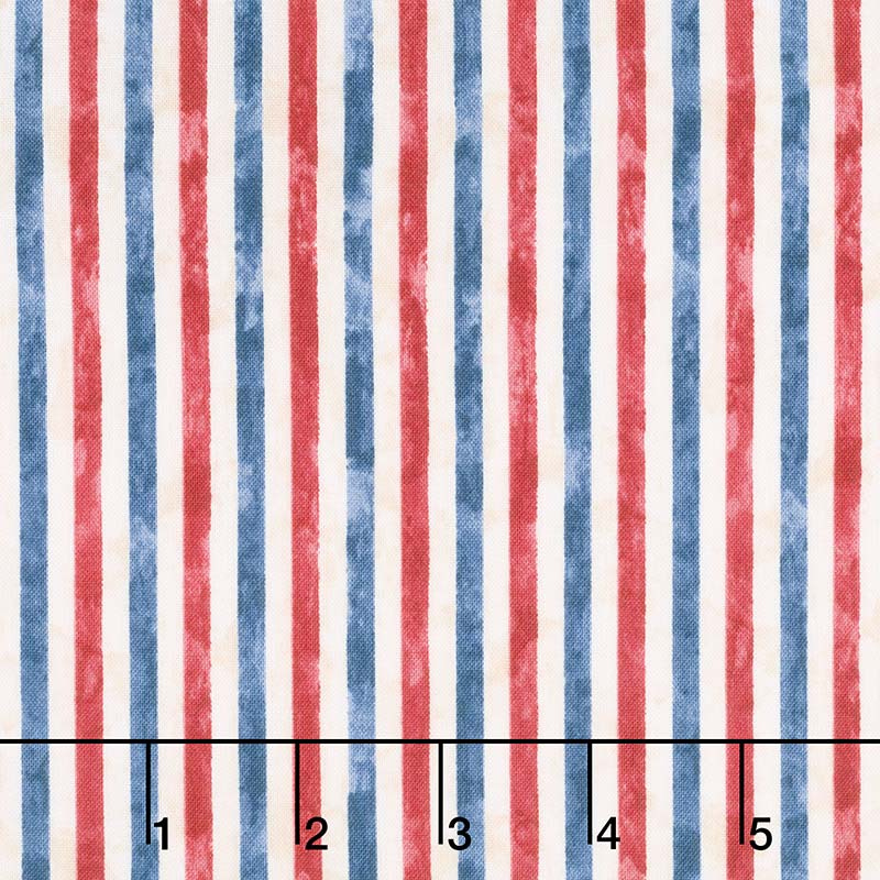 America, My Home - Stripes Multi Yardage