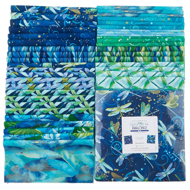 Dance Of The Dragonfly Blues Metallic 10 Quot Squares Kanvas
