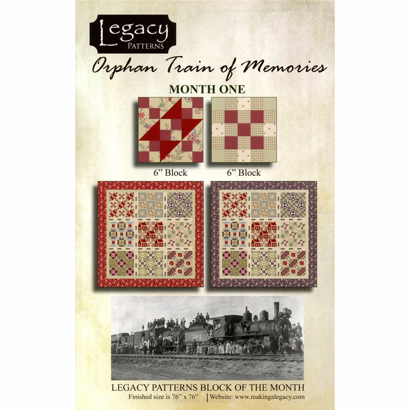 Orphan train pattern set audrey wright legacy patterns for Fabric with trains pattern