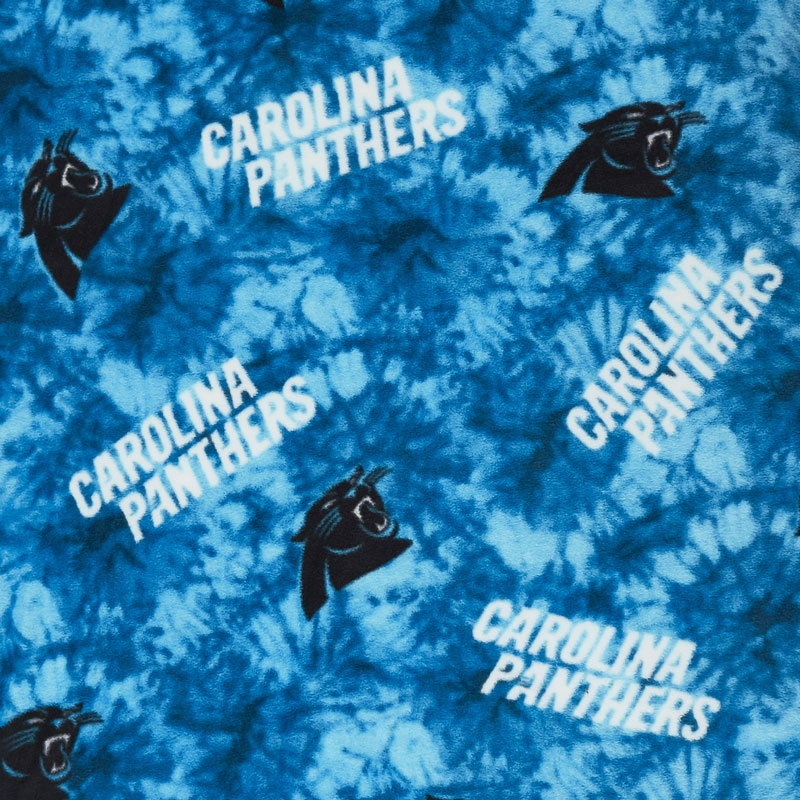 discount carolina panthers fleece fabric