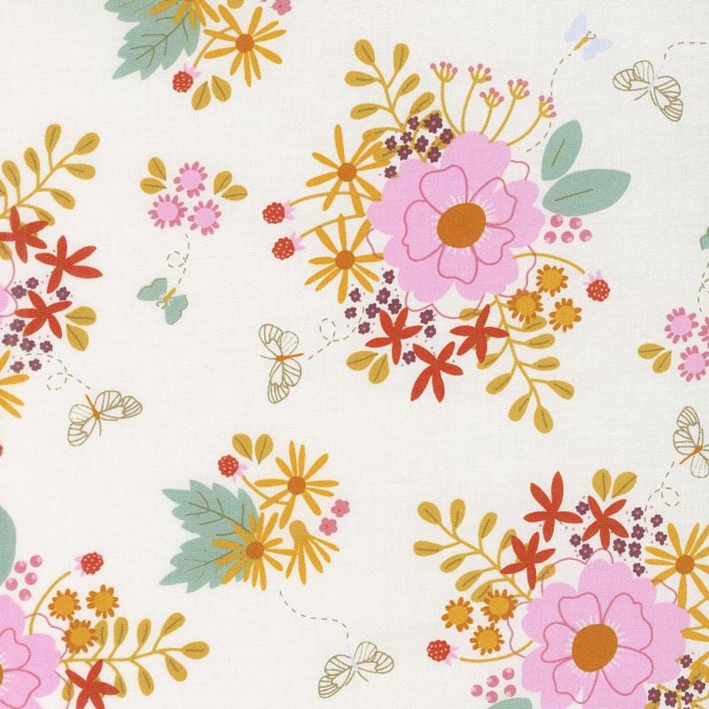 Wild Bouquet - Main Cream Yardage