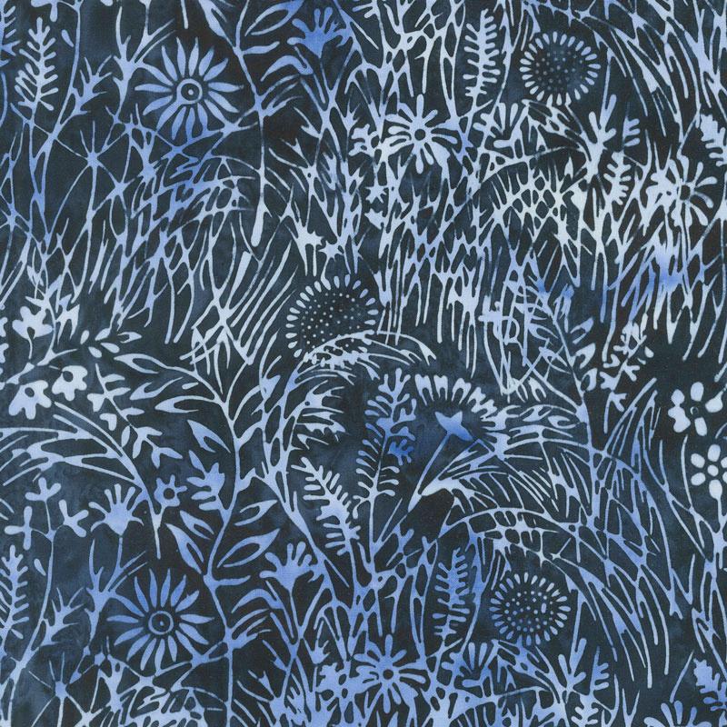 Blueberry Patch Batiks - Wildflower Storm Yardage