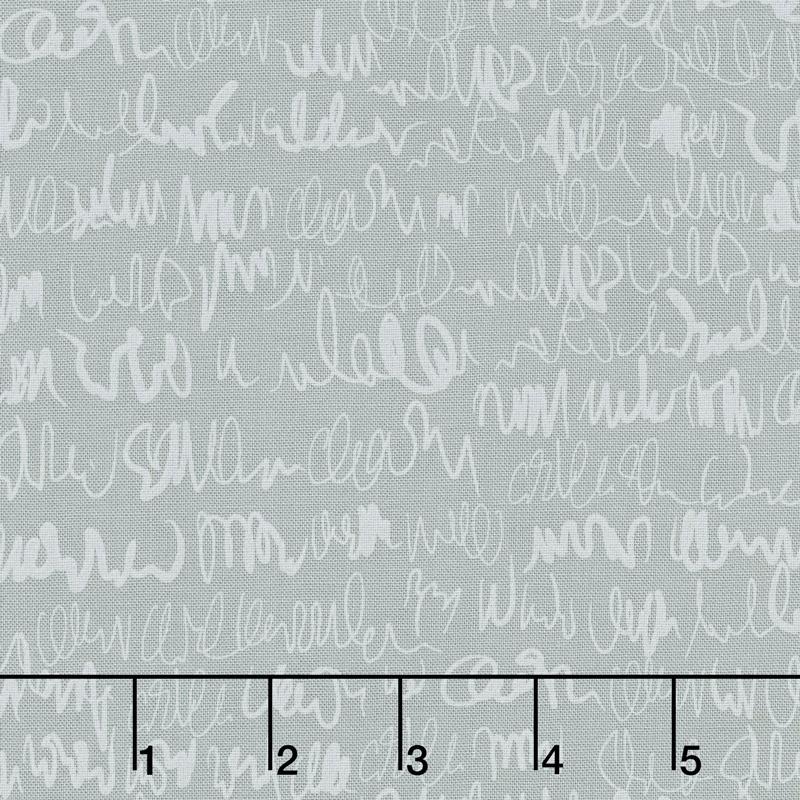 Modern Backgrounds More Paper - Scribbles Steel Yardage