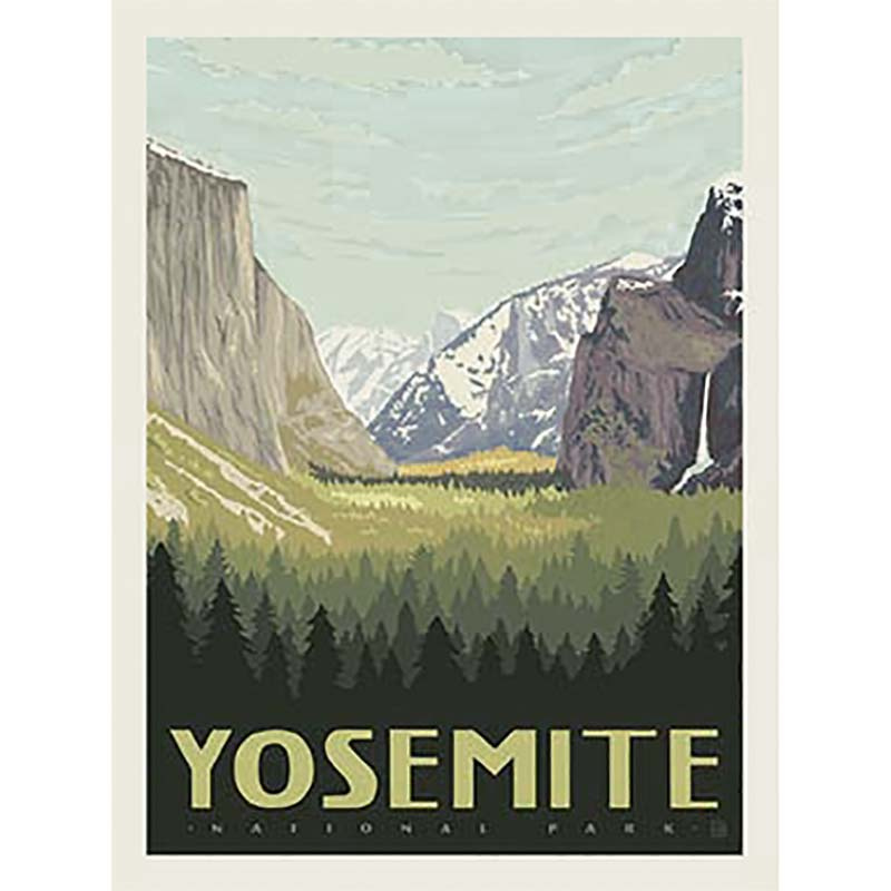 Yosemite National Park Poster Yosemite Valley: National Parks - Yosemite Poster Panel