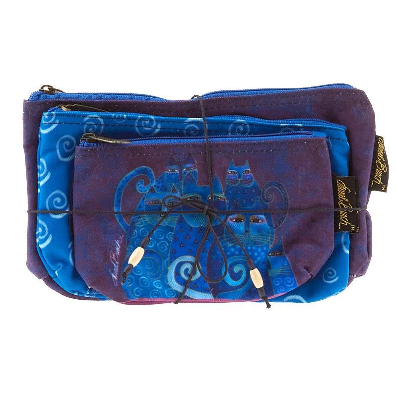 Indigo Cats Cosmetic Bags