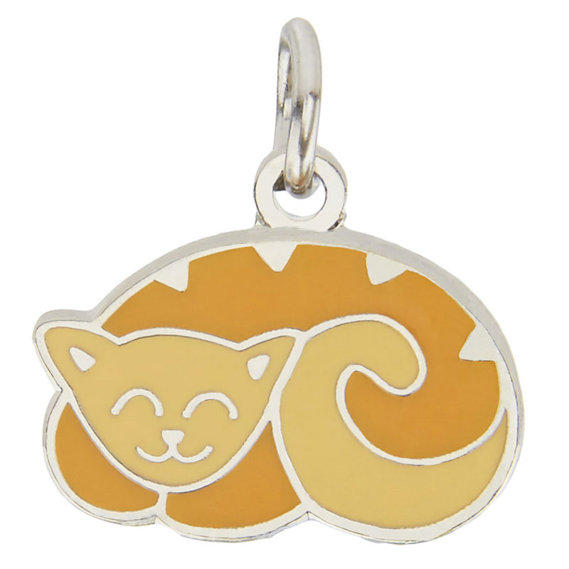 Curly Cat Charm