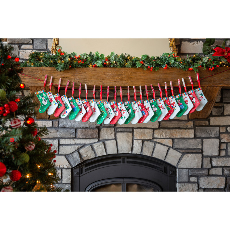 Jolly Santa Advent Stocking Kit
