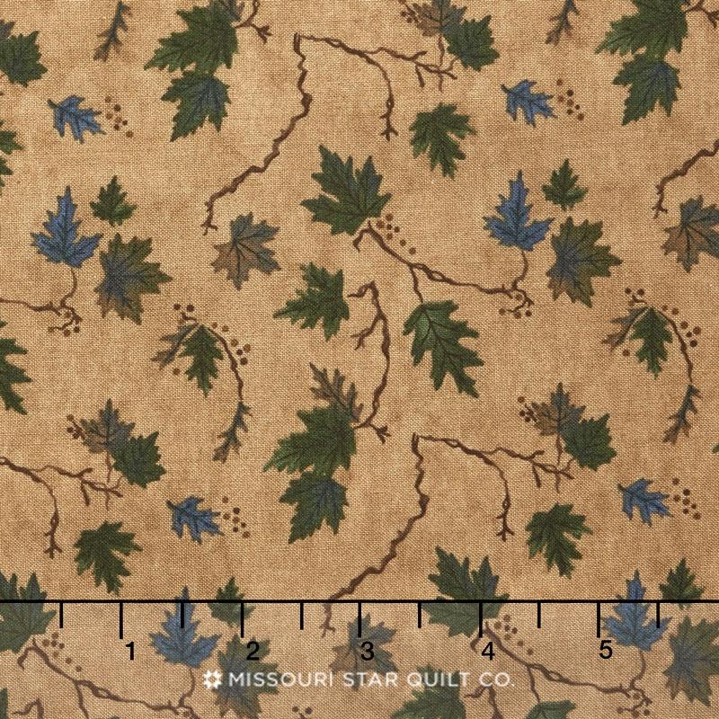 River Journey - Summer Leaves Buckskin Yardage