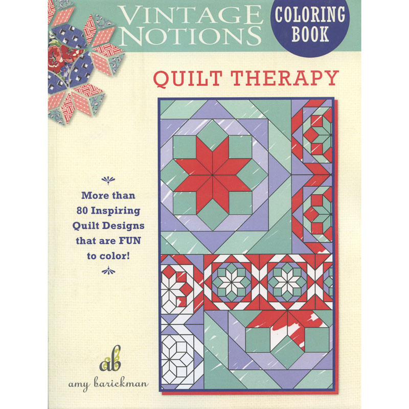 Vintage Notions Coloring Book - Quilt Therapy Book