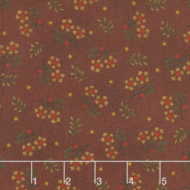 Wit & Wisdom - Floral Sprays Red Yardage