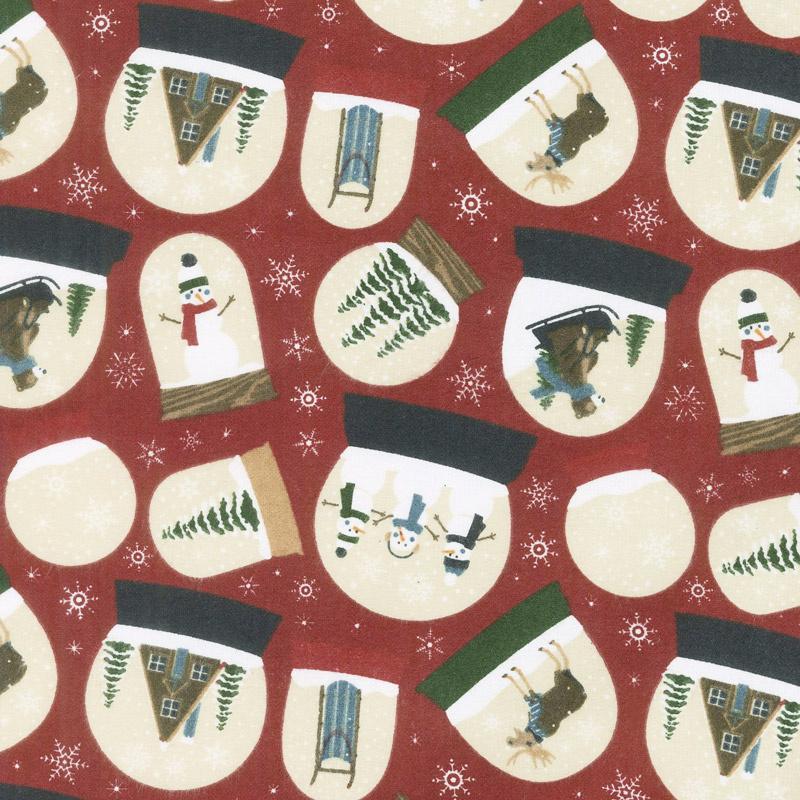 Designer Flannel - Let It Snow Main Red Yardage
