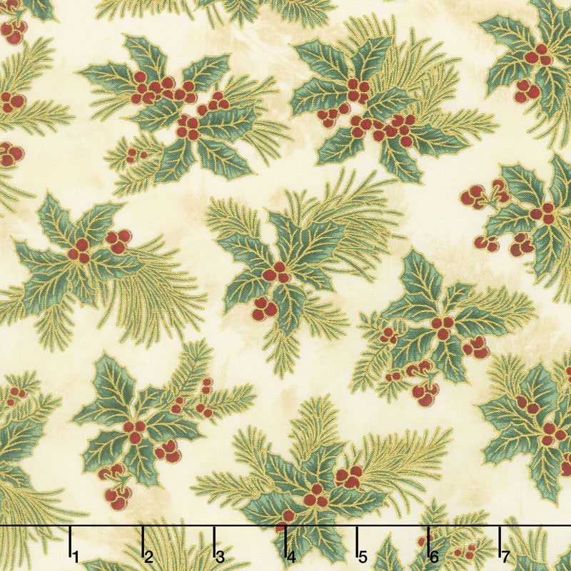 Holiday Flourish 12 - Boughs Holiday Metallic Yardage
